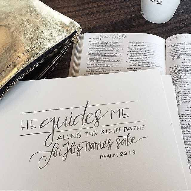 Psalm 23:3. I really , really like this design and the verse, they go so well together!