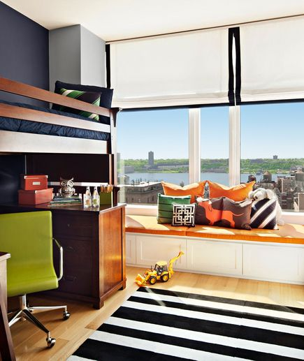 Brightly colored boy bedroom {page 24 of 33}   30 Modern Bedroom Ideas   Real Simple