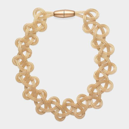 MoMA EXCLUSIVE - Golden Mesh Necklace by Rosalba Galati, 2012, $155 !!