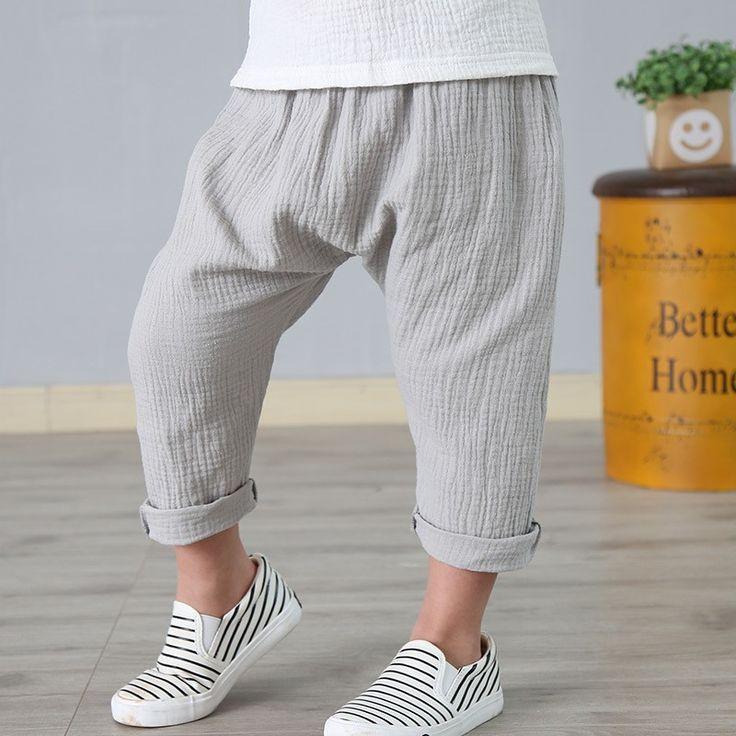 Размеры на 2-7 л. белье плиссированные Детские штаны Горячая 2017 летние штаны для мальчиков и девочек дети пят Штаны штаны-шаровары для маленьких мальчиков Одежда для девочек