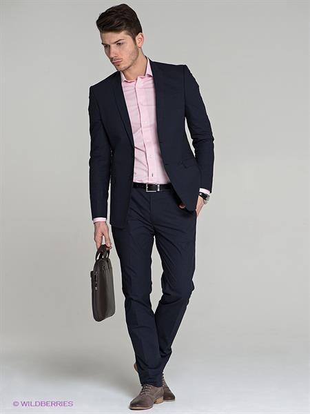 Пиджак костюм мужской темно синий