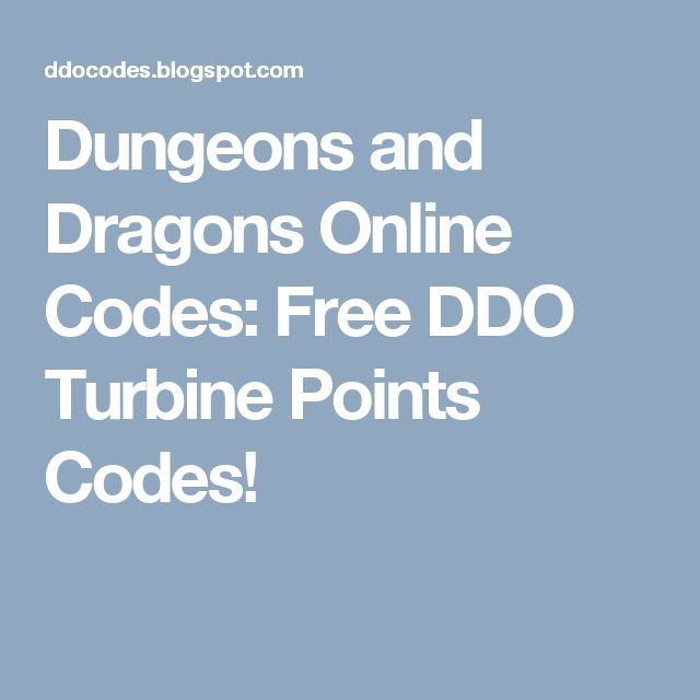 Dungeons and Dragons Online Codes: Free DDO Turbine Points Codes!