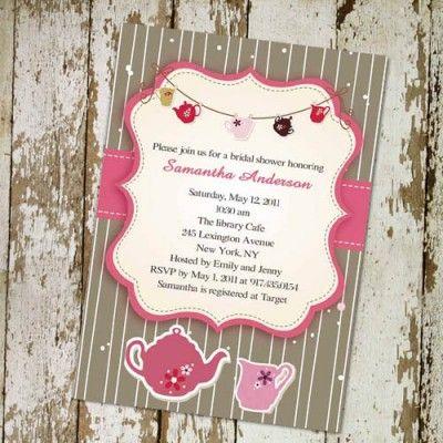 43 best images about Tea Party – Bridal Shower Invitations Tea Party Theme