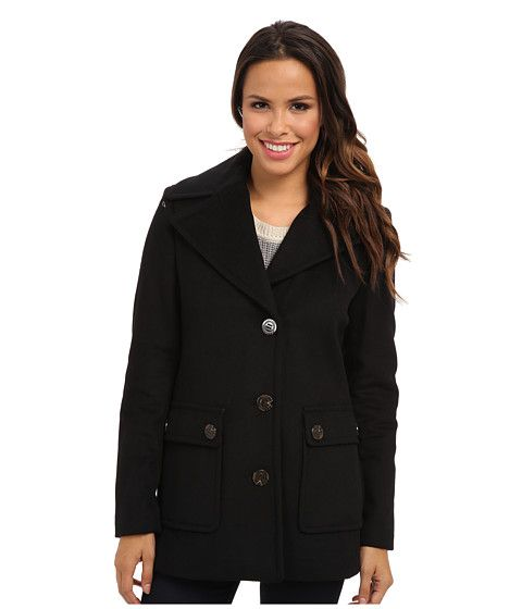 Calvin Klein Calvin Klein  Single Breasted Wool Blend Peacoat CW Womens Jacket for 77.99 at Im in! #sale #fashion #I'mIn