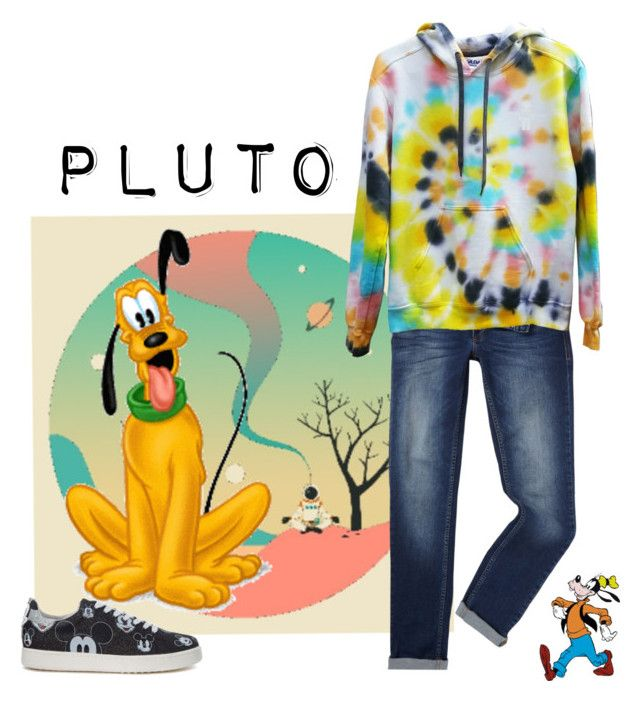 Pluto by kaleidoscopekidco on Polyvore featuring MOA Master of Arts, Versace, Jazzberry Blue and Disney
