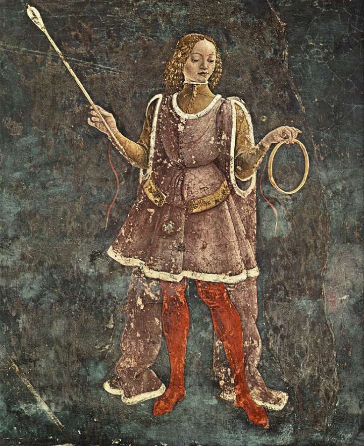 HOW TO BE BOTH -Allegorical frescoes in the Palazzo Schifanoia | allegory of march triumph of minerva detail 1476 84 fresco