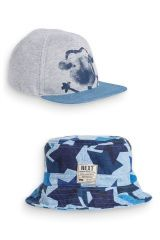 Two Pack Set Monkey Cap And Fisherman's Hat (3mths-6yrs)