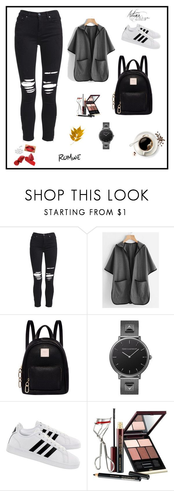 """""""...."""" by selmamehinovic112 ❤ liked on Polyvore featuring AMIRI, Fiorelli, Rebecca Minkoff, adidas and Kevyn Aucoin"""