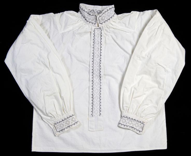 DigitaltMuseum - skjorte til Sognebunad