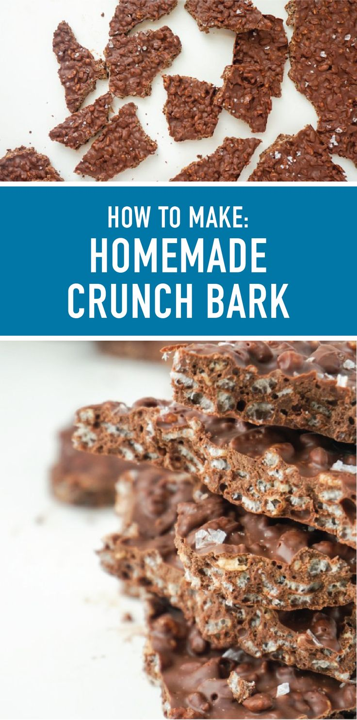 Bite down into the sweet taste of this Homemade Crunch Bark. Rich dark chocolate, crunchy Rice Krispies® cereal, and sea salt—there's nothing not to love about this 3-ingredient dessert recipe. Click here to see how you can make this indulgent treat for yourself.