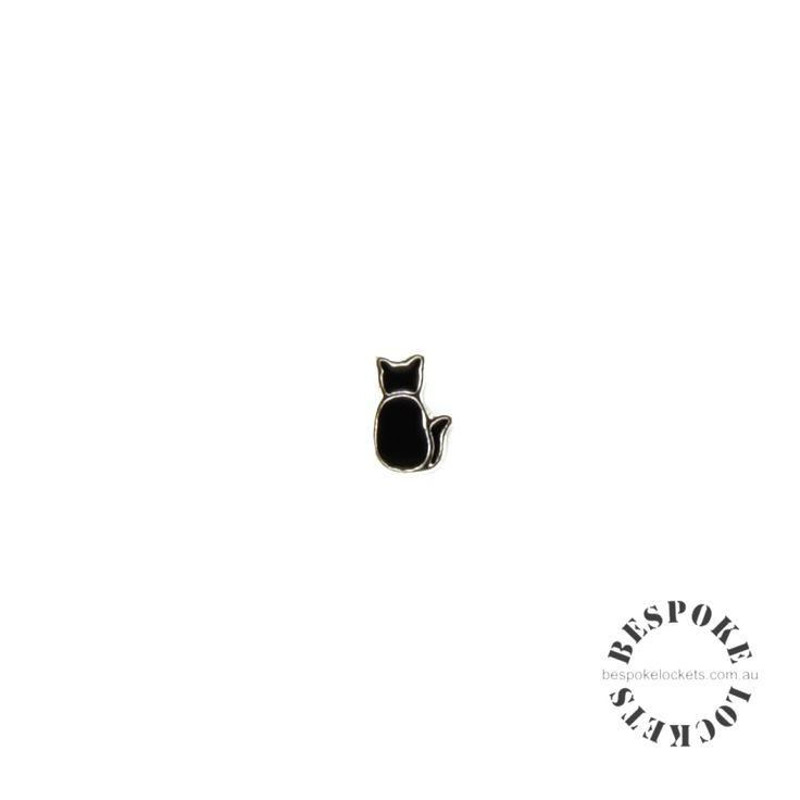Black Cat - Floating Charm