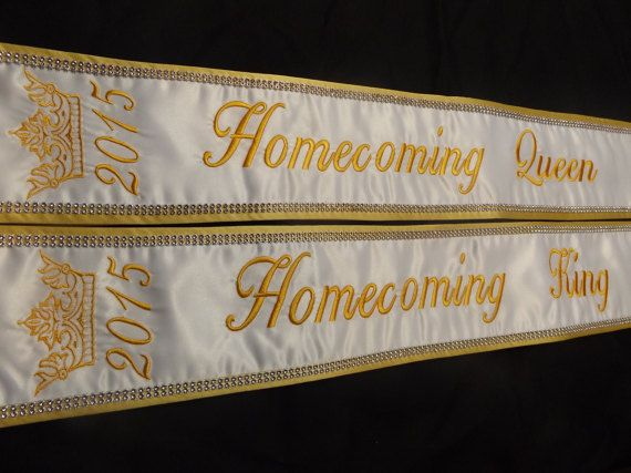 Homecoming King Amp Queen Sashes Sets Great By