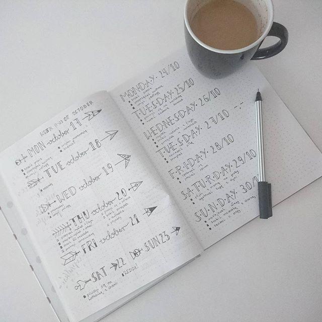 Dzień dobry! Dzisiejszy dzień zaczynam od planowania. Muszę w moim #bulletjournal zrobić rozpiskę miesiąca, habit tracker i inne takiego, potem wezmę się za naukę do kartkówki z chemii. Później czeka mnie fryzjer i spotkanie klasowe :) A Wy co dziś planujecie? :)