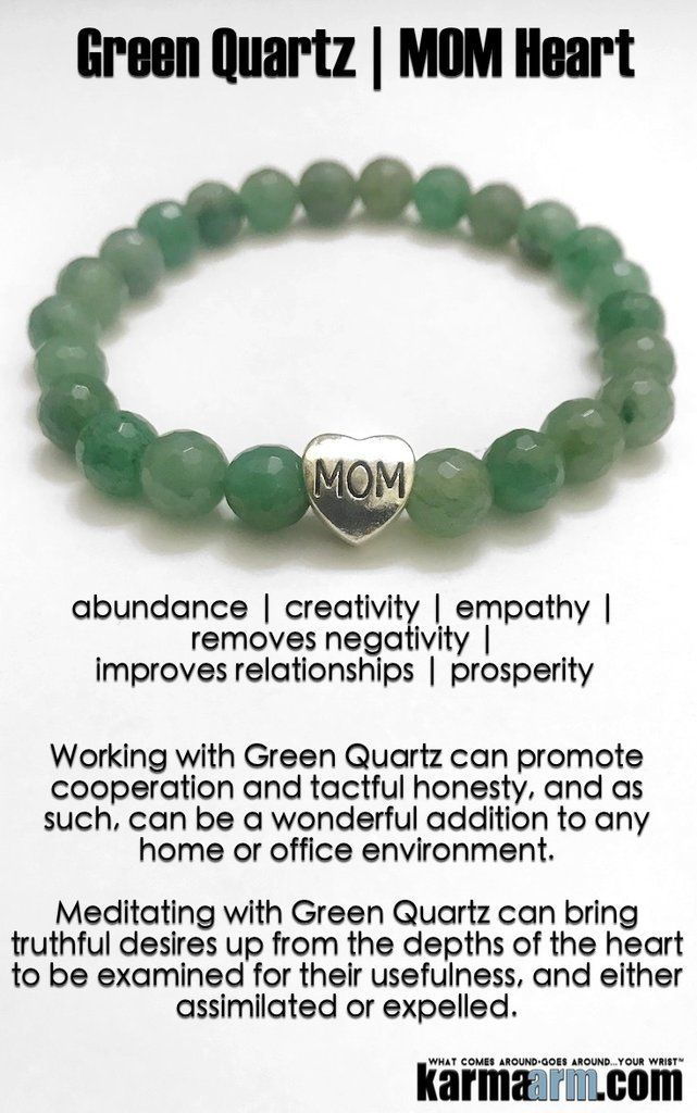 Mother's Day Gifts. BoHo Yoga Beaded Bracelets | Reiki Meditation Jewelry. Mens Bracelet. Green #Quartz is known to attract prosperity and success and to stimulate one's creativity. #MothersDay #Mommy #Bracelets #BEADED #Yoga #Jewelry #gifts #Chakra #Reiki #Healing #Gifts #Buddhist #Love #Mantra #Mala #Meditation #prayer #mindfulness #wisdom #CrystalEnergy #EckhartTolle #GiftsForHim
