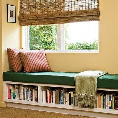 bookshelf window seat
