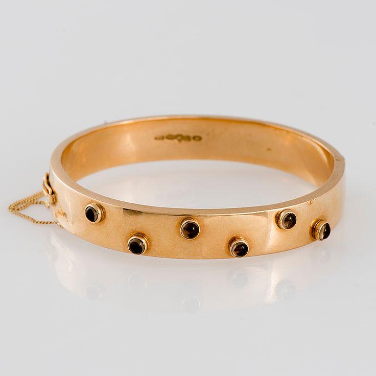 Westerback, vintage 14K gold and smoky quartz bracelet, 1960. #Finland | Bukowskis Market