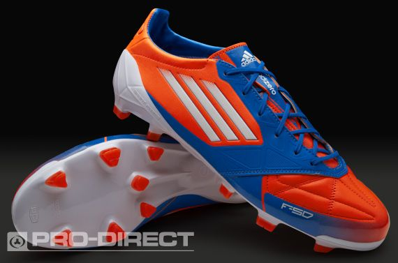 adidas Football Boots - adidas F50 adizero TRX FG Leather - Firm Ground - Soccer Cleats - Infrared-White-Blue