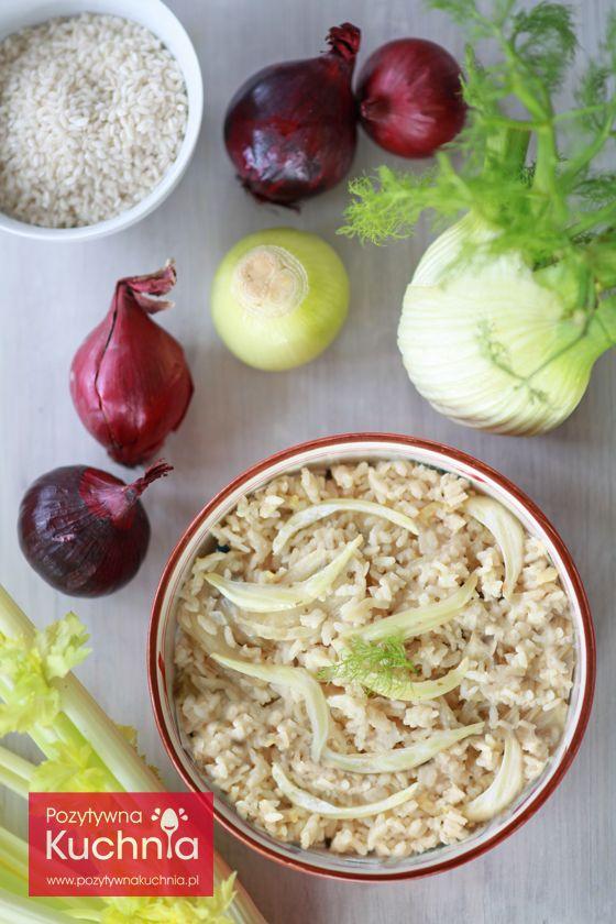 #Risotto z koprem włoskim - #przepis na risotto z #fenkul.em  http://pozytywnakuchnia.pl/risotto-z-koprem-wloskim/  #kuchnia #obiad