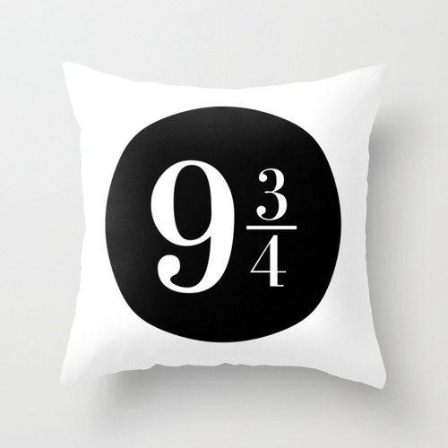 Platform 9 3/4! Harry Potter Pillow Cushion Gift Book Literature Magic Hogwarts Express