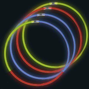 """22"""" Glow Necklaces (50/pkg) - 4 Colour Options"""