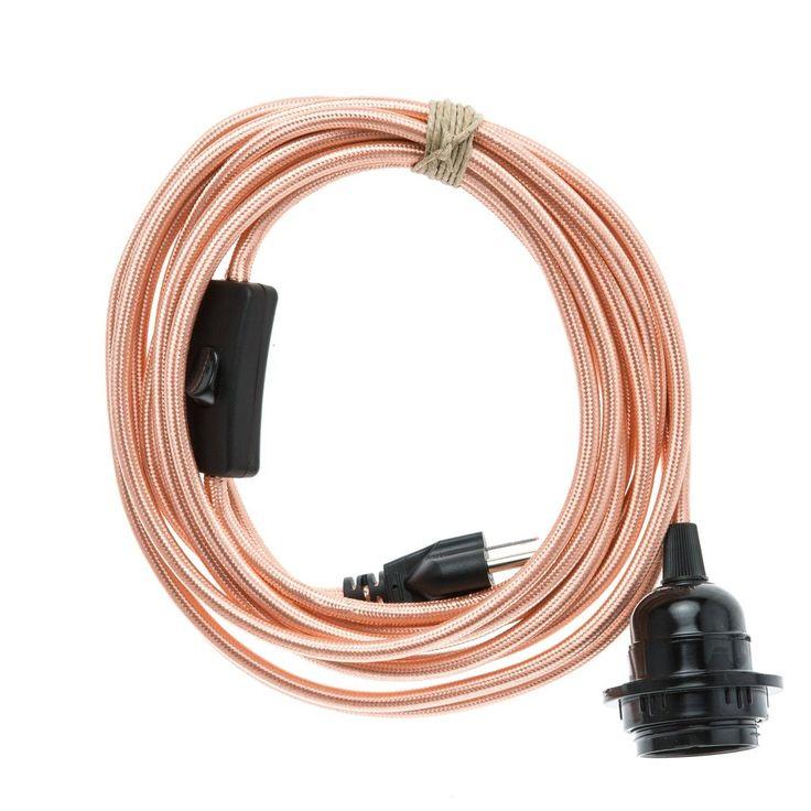 Standard Plug-In Pendant Light Polished Copper Rose Gold