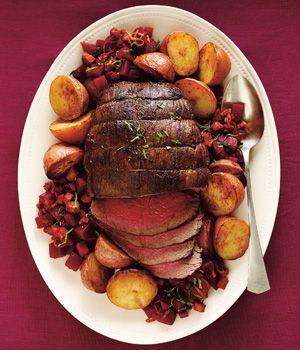 Pumpkin Spice Roast Beef with Warm Beets