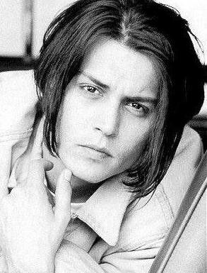 Rare photo of Johnny Depp