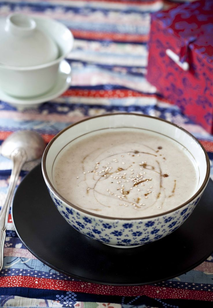Soupe de champignons, navets et pommes de terre au sésame ©AnneDemay-Reverdy ©BonAppetit