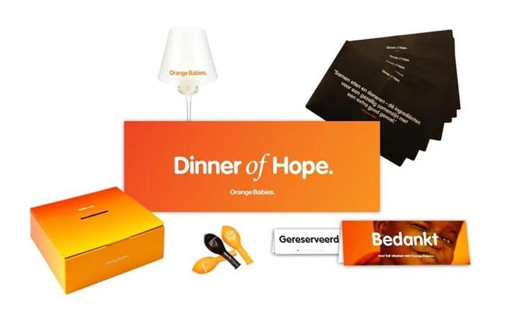 Geef je op voor Dinner of Hope 2013!  Via de webshop kun je voor maar 5,- euro een actiepakket bestellen om je Dinner of Hope mooi aan te kleden! www.orangebabies.nl/shop