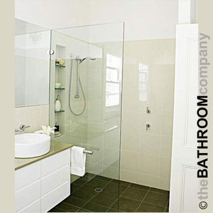 Shower Screen - Single Panel 10x700x2100mm Clear Toughened Safety Glass