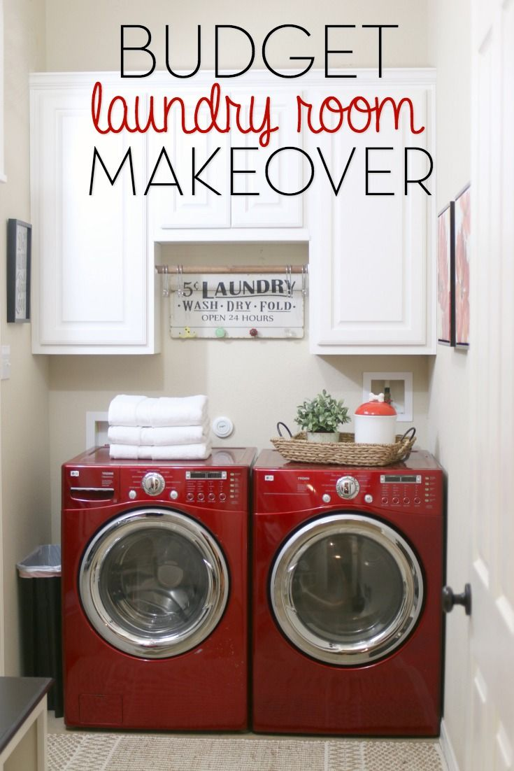 We turned our drab, dark laundry room into a a fabulous space on a budget. Come on it and check it out!