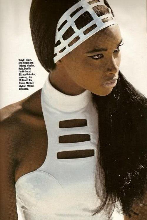Elle US, July 1991  Photographer: Gilles Bensimon  Model: Beverly Peele