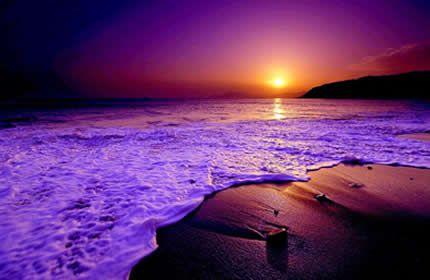 gün batımı, plaj, güzel görünümü, okyanus dalgaları, ufuk, deniz, su parlak Masaüstü Duvar Kağıtları