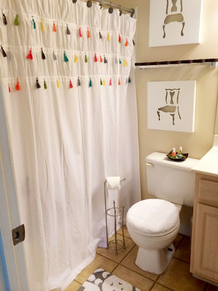 How To Make A Tassel Shower Curtain Like Anthropologie