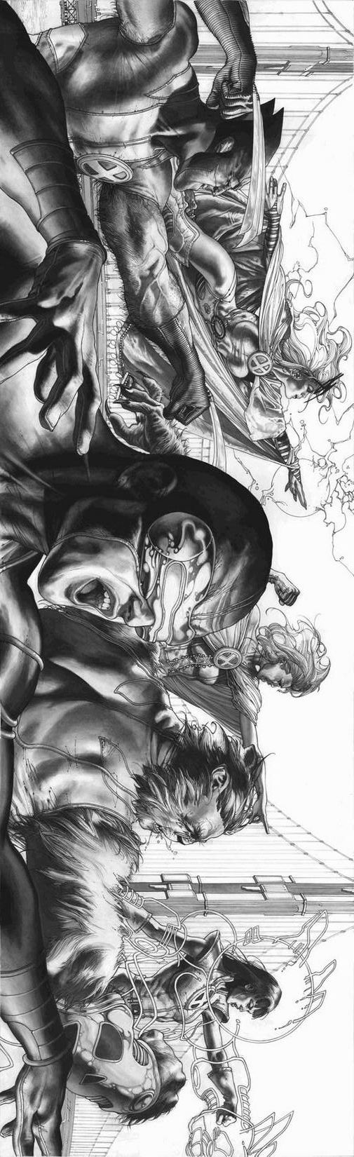 Astonishing X-Men B&W cover Simone Bianchi