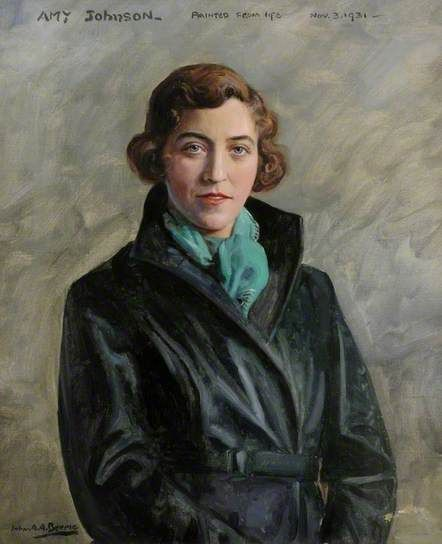 Amy Johnson (1903–1941), 1931 By John A.A Berrie (1887-1962)