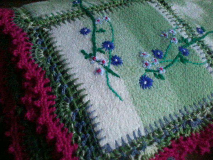 nieuw woonkleed van oude deken