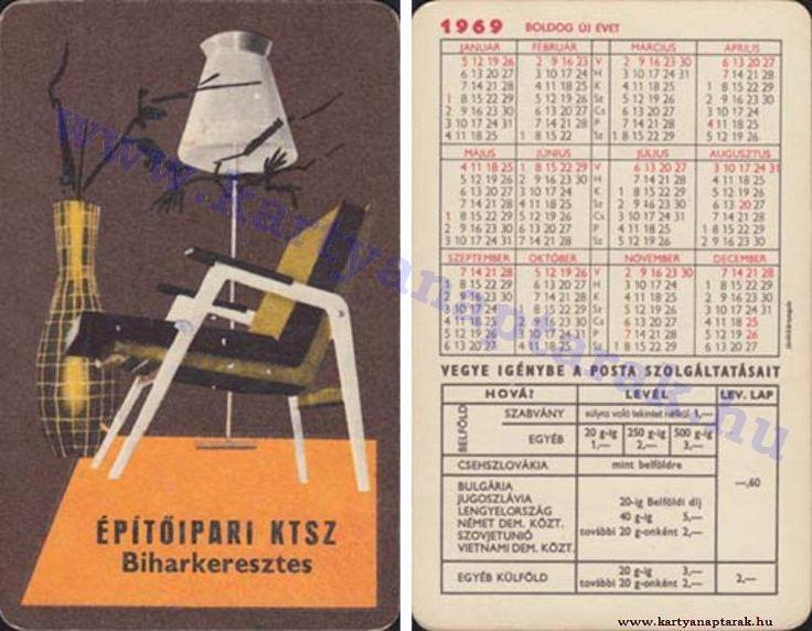 1969 - 1969_0315 - Régi magyar kártyanaptárak