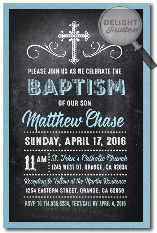 Best Baptism Invitations Images On   Baptism Ideas