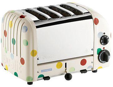 Dualit Emma Bridgewater NewGen Toaster, 4-Slice, Polka Dots - eclectic - toasters - John Lewis