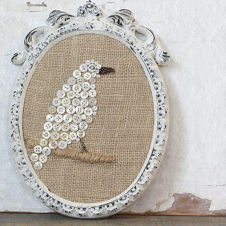Vintage button bird | Cloth & Patina