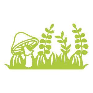 Silhouette Design Store - View Design #144434: garden mushroom ferns