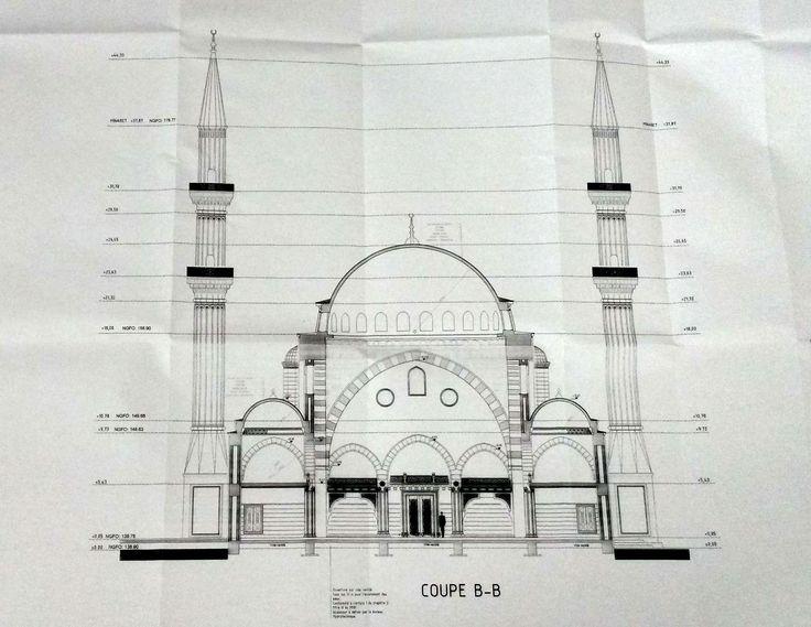 Future mosquée de la Meinau : des colombages et deux minarets