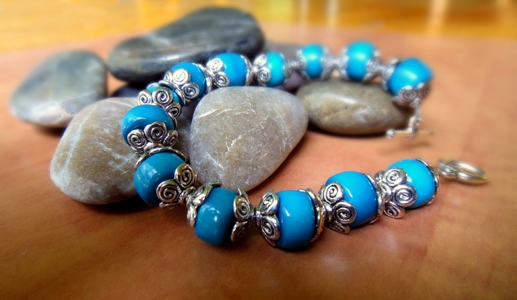 Blue Tagua Bracelet. $15.50, via Etsy.