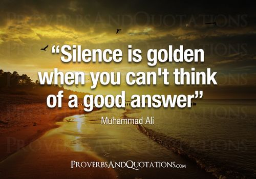 is silence really golden in a relationship