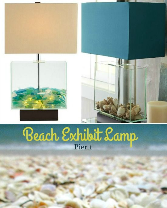 91 best beach decor images on pinterest beach houses beach exhibit table lamp from pier table lamp collection the perfect table lamp to display your beach finds easy to fill with seaglass se aloadofball Choice Image