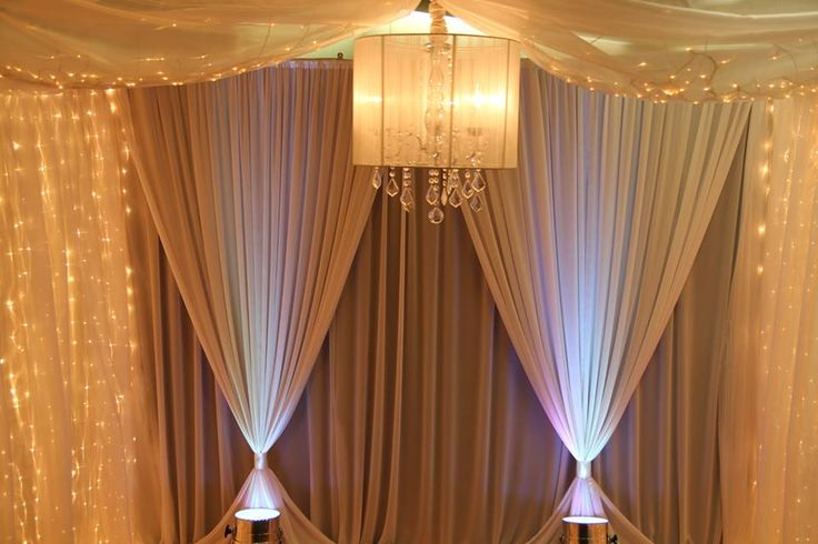 You can bring life to your event with bright and elegant backdrops! We bet that your guests would be taking photos in front of this backdrop. #backdrop #DIY #event #party #fairylights