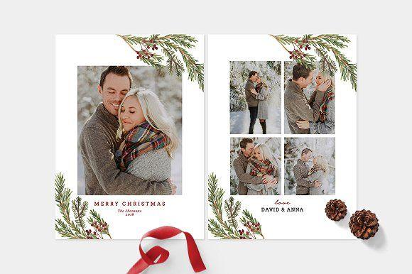 Christmas Photo Card Template Cd095 Photo Card Template Christmas Photo Card Template Photoshop Christmas Card Template
