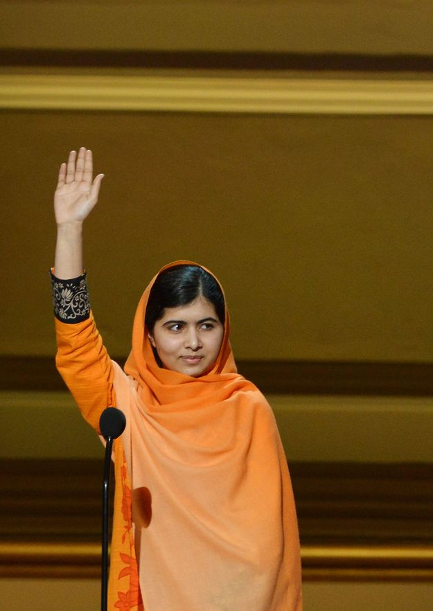 Malala Yousafzai, for fighting for human rights even after the Taliban's horrific attack on her: