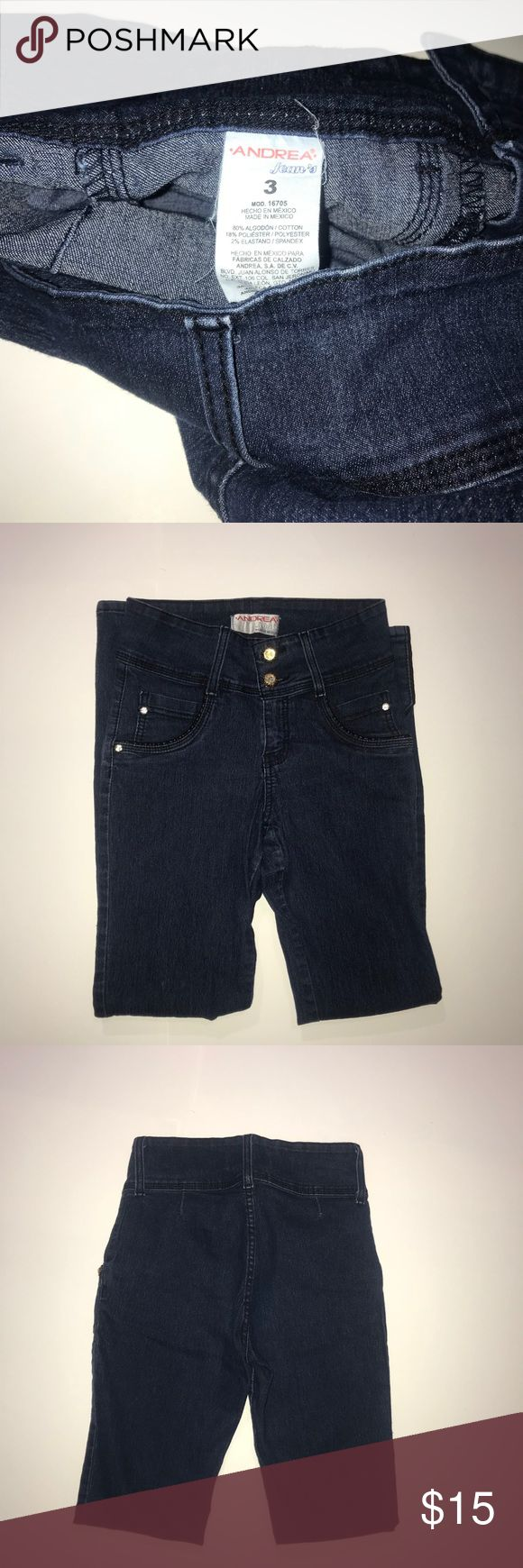 Andrea size 3 jeans dark blue Made in Mexico Worn only 3 times  Skinny jeans andrea Jeans Skinny
